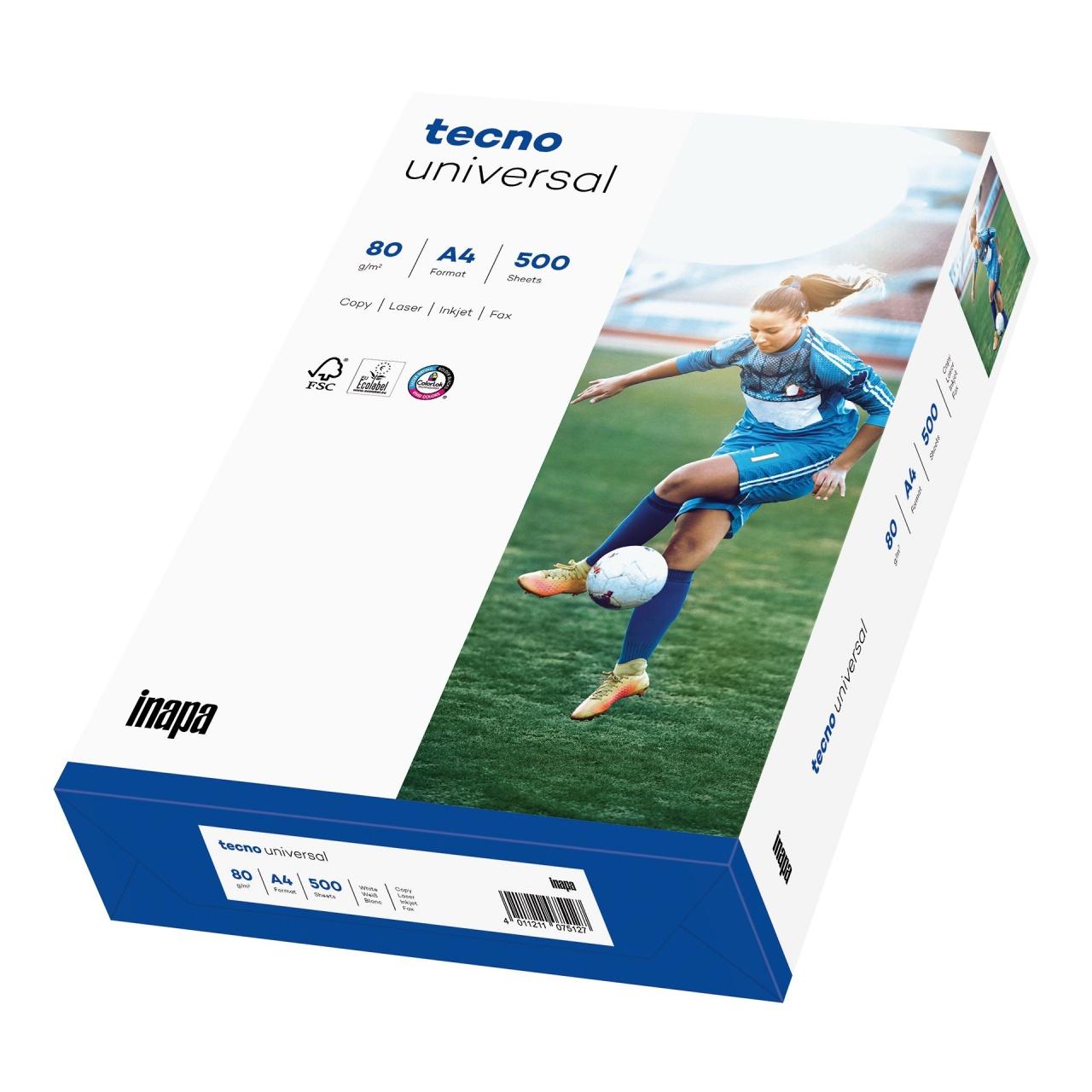 TECNO Universal FSC Papier 80g/m²,DINA4 holzfrei weiß