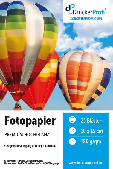 DDP Inkjet Fotopapier glänzend, 180g/m², 10x15cm, 25 Blatt