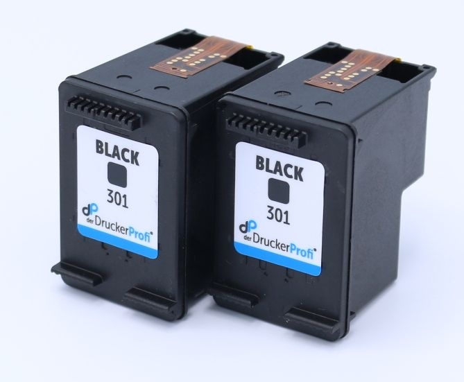 Kompatibel zu HP 301 schwarz Doppelpack, Standard Füllmenge