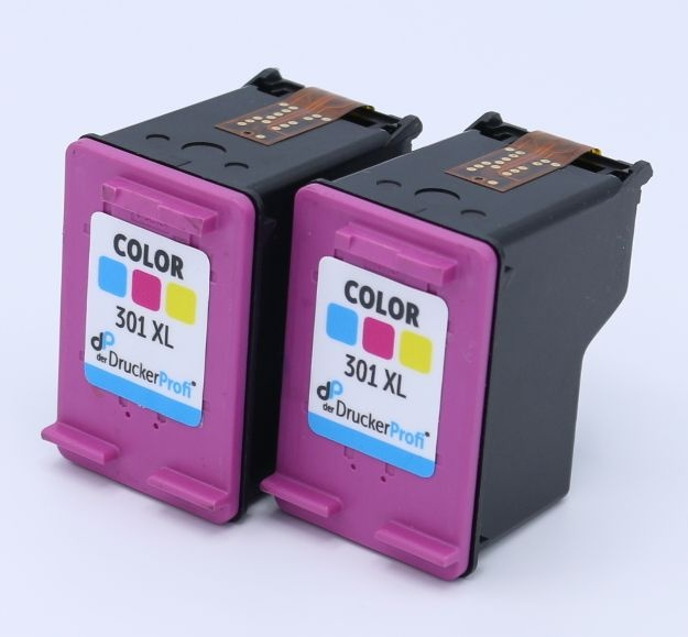 Kompatibel zu HP 301 XL color Doppelpack, große Füllmenge