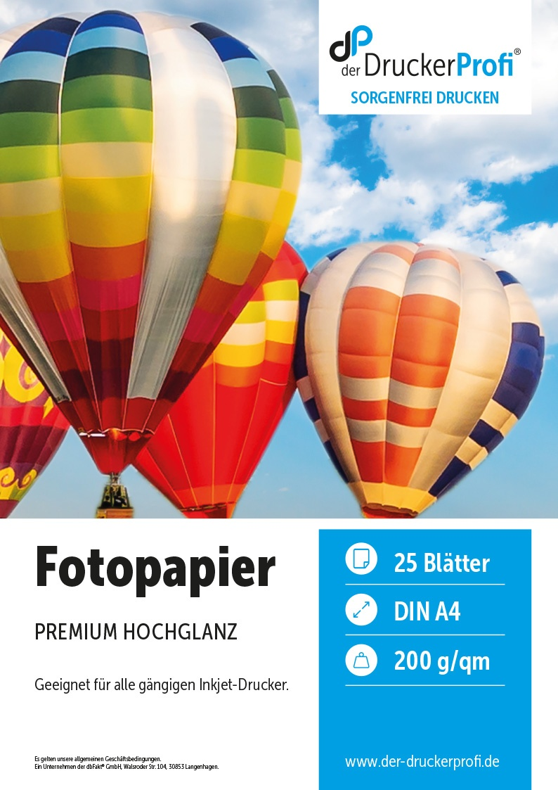 DDP Inkjet Fotopapier glänzend, 200g/m², DIN A4, 25 Blatt