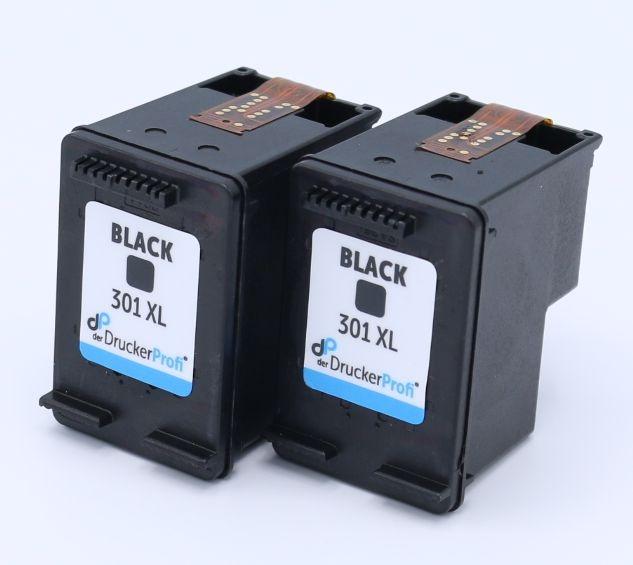 Kompatibel zu HP 301 XL schwarz Doppelpack, große Füllmenge