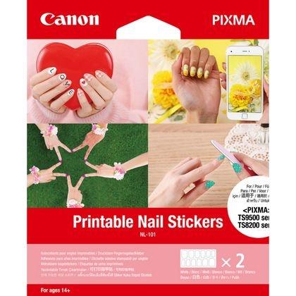 Canon Bedruckbare Fingernagel-Sticker NL-101, 24 Sticker