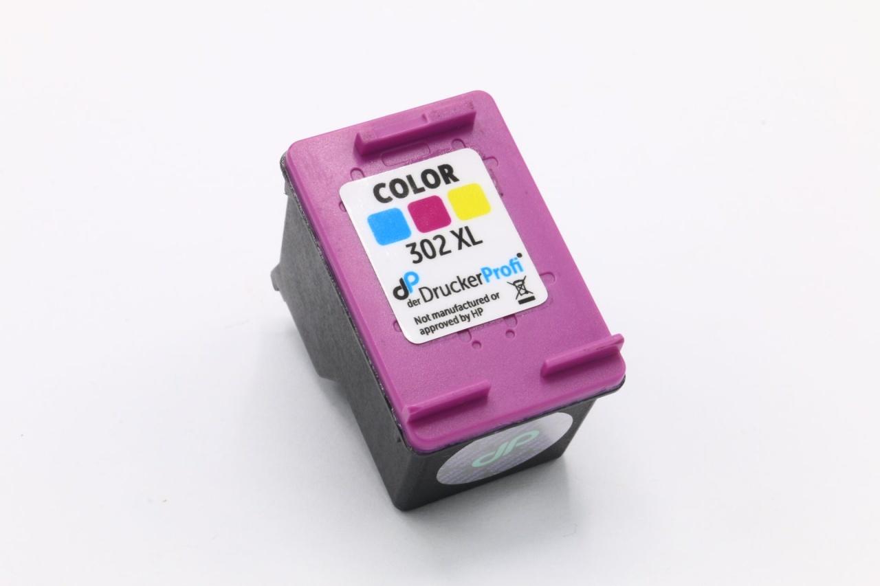 Kompatibel zu HP 302XL Tinte color 8 ml